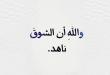 راحيل الحوارية تكتب: واللهِ أن الشوقَ ناهد